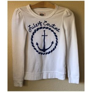 Juicy Couture White Sweatshirt Anchor blue 12